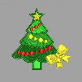 Christmas Tree With Ribbon