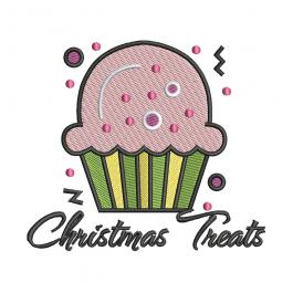 Digitized Christmas Cupcake