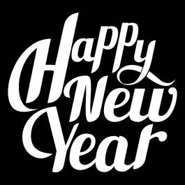 Happy new year typography Vector