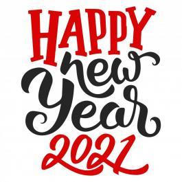 Vector art: New year 2021