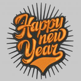 Digitized Embroidery design: Happy New Year