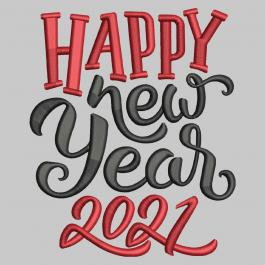 Digitized happy new year 2021