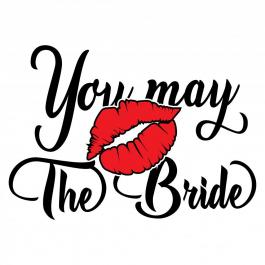 You May The Bride  Vector Art Design