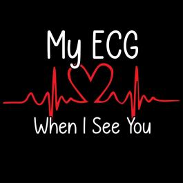 ECG When I See You Vector Design