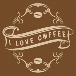 I Love Coffee Vector Art