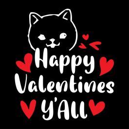 Vector Art: Happy Valentine Y'all