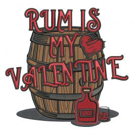 Embroidery Design: Rum Is My Valentine