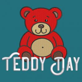 Embroidery Design: Teddy Day