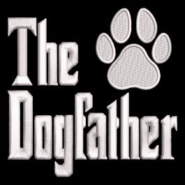 Embroidery design: The Dogfather Paw
