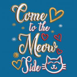 Embroidery design:Kitten Meowing Typography