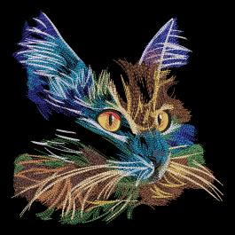 Cre8iveSkill's Embroidery Design Colorful Cat