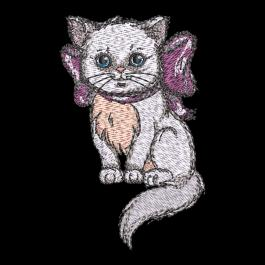 Cre8iveSkill's Embroidery design Cute Kitten Drama Cat