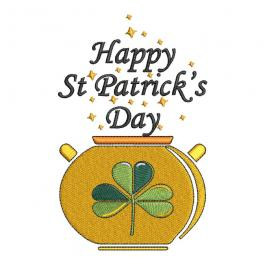Cre8iveSkill's Embroidery Design Happy Patrick's Day