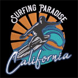 Embroidery Design: Surfing Paradise