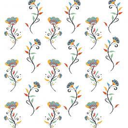 Vector Art: Seamless Flower Pattern