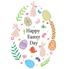 Cre8iveSkill's Vector Art Happy Easter Day