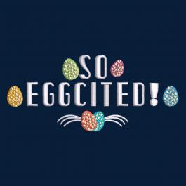Cre8iveSkill's Embroidery Design Eggcited Eggs
