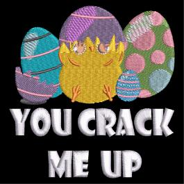 Cre8iveSkill's Embroidery Design You Crack Me Up