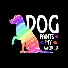 Dog Paints My World Vector Design