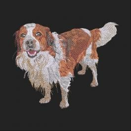 Spanial Dog Embroidery Design