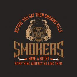 Smoking Kills Vector Design
