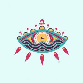 Colorful Eye Vector Art