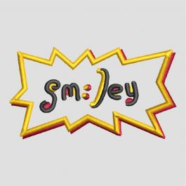 Smiley Sticker Applique Embroidery Design