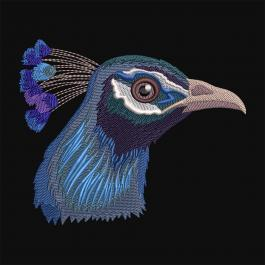 Cre8iveSkill Embroidery Design Blue Peacock