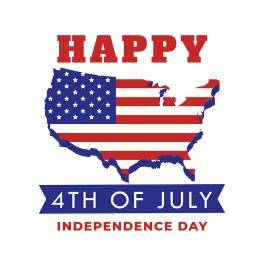 Vector Art Design Happy Independence Day 4th of July