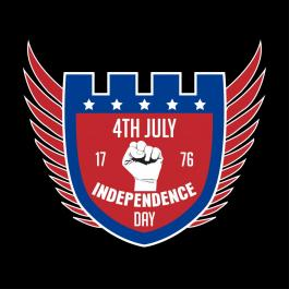 USA Forty Of July Vector Art Design