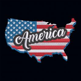 Embroidery Design: American Flag