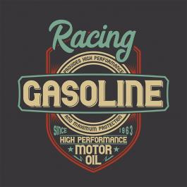 Racing Gasoline Vector Graphic Design