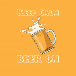 Cre8iveSkill's Vector Art Design Keep Calm Beer Is On