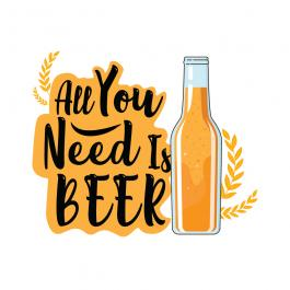 All You Need Is Beer Vector Graphic Design - Cre8iveSkill