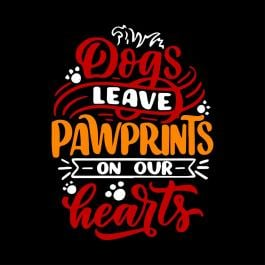 Dog Pawprint Vector Art Design - Cre8iveSkill
