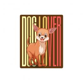 Dog Lovers Vector Graphic Design By Cre8iveSkill