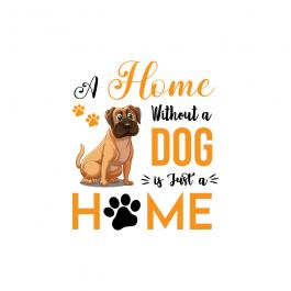 Home Without A Dog Vector Graphic Design - Cre8iveSkill