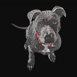 Innocent Dog Embroidery Design - Cre8iveSkill