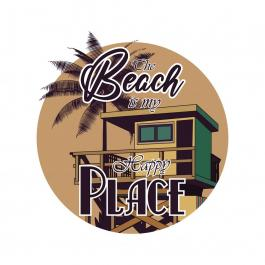 The Beach Is My Happy Place Vector Graphic Design - Cre8iveSkill