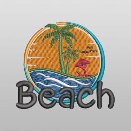 The Beach Is Calling Embroidery Design - Cre8iveSkill