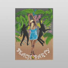Party On The Beach Embroidery Design - Cre8iveSkill
