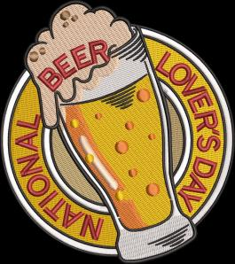 National Beer Lovers Day Embroidery Design-Cre8iveskill