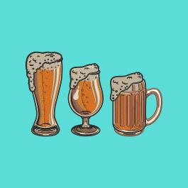 Beer Mugs Embroidery Design - Cre8iveSkill