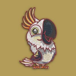Cartoon Parrot Embroidery Design - Cre8iveSkill