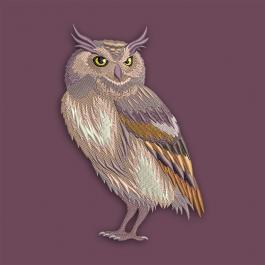 Mighty Owl Embroidery design-Cre8iveSkill
