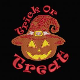 Trick or Treat Halloween Pumpkin Machine Embroidery Design-Cre8iveSkill