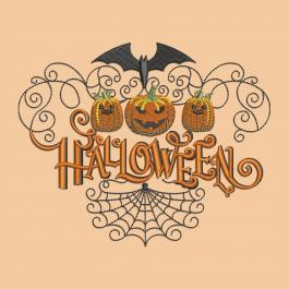 Halloween Pumpkin Faces Embroidery Design | Cre8iveSkill