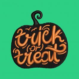 Trick r Treat Pumpkin Halloween Embroidery Design | Cre8iveSkill