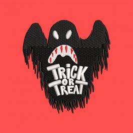 Trick Or Treat Bat Machine Embroidery Design | Cre8iveSkill