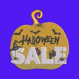 Pumpkin Halloween Sale Digitized Embroidery Design-Cre8iveSkill